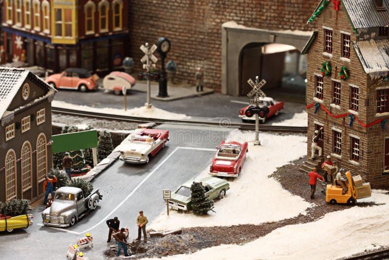 Weihnachtsstadt stockfotos