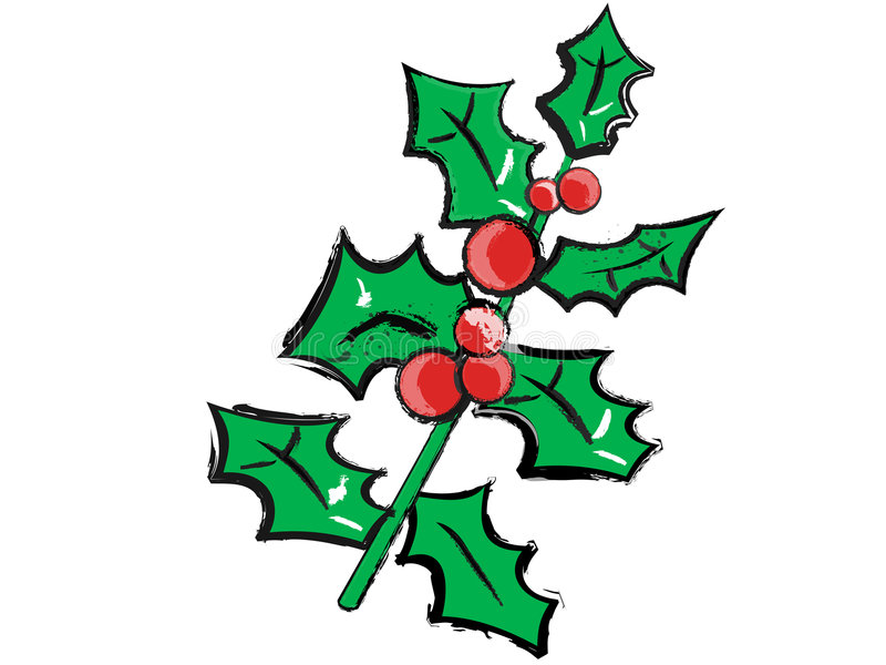 Weihnachtsstechpalme stock abbildung
