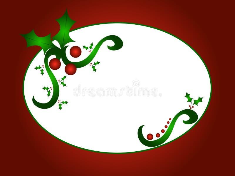 Weihnachtsstechpalme-Auslegung VEKTOR stock abbildung