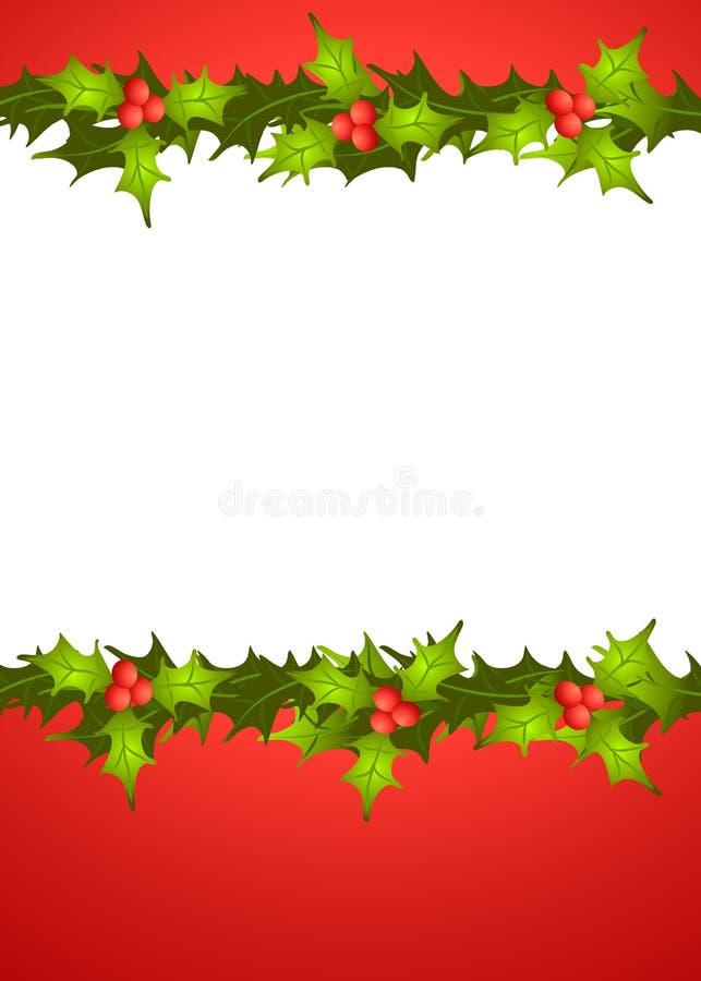 Weihnachtsstechpalme-Rand 2 vektor abbildung