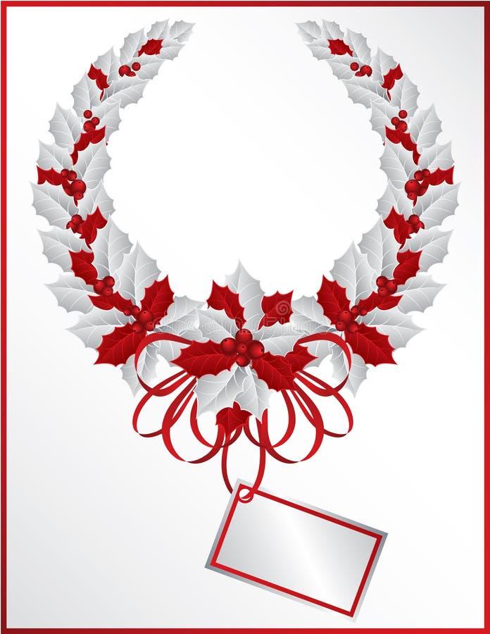Weihnachtsstechpalme Wreath lizenzfreie abbildung