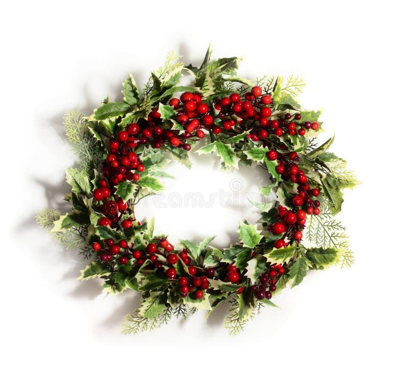 Weihnachtsstechpalme Wreath lizenzfreies stockfoto