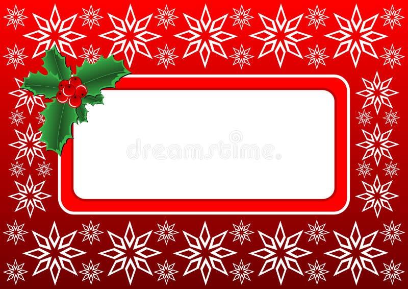 Weihnachtsstechpalmefahne lizenzfreie abbildung