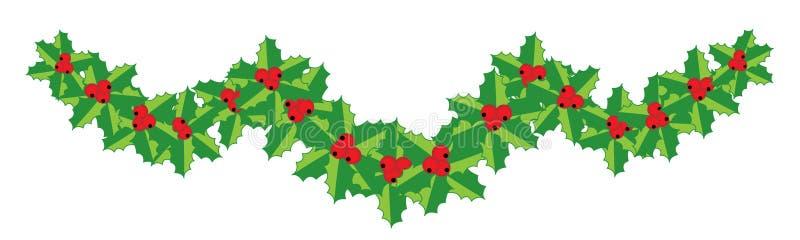 Weihnachtsstechpalmegirlande für Ihre Auslegung stock abbildung