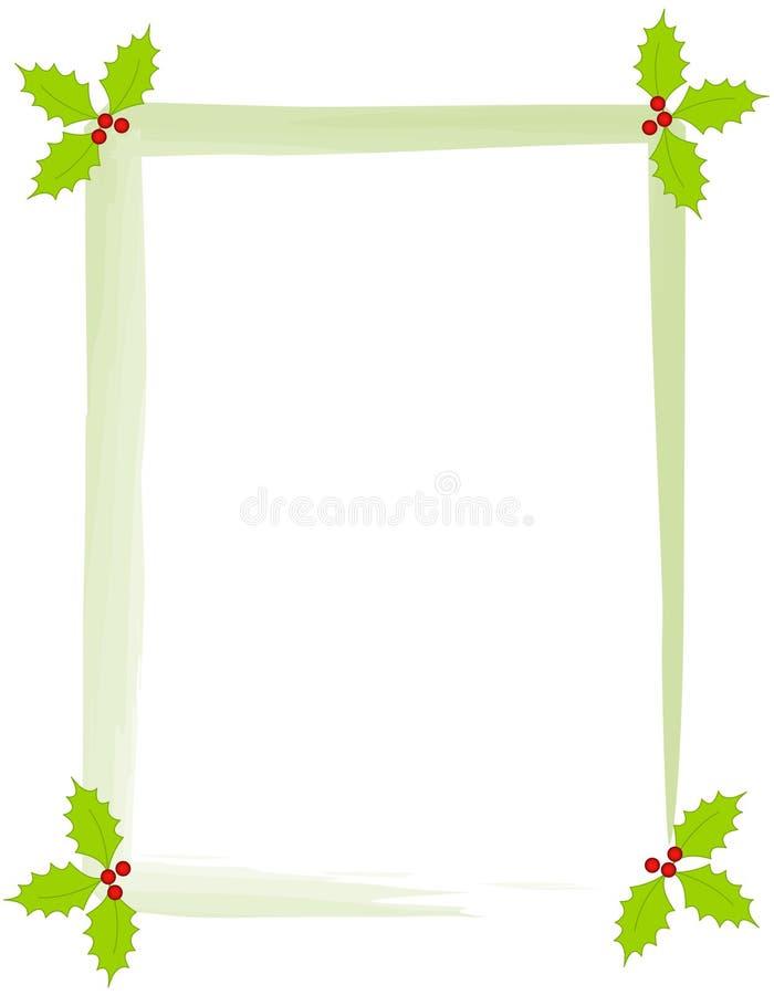 Weihnachtsstechpalmerand stock abbildung