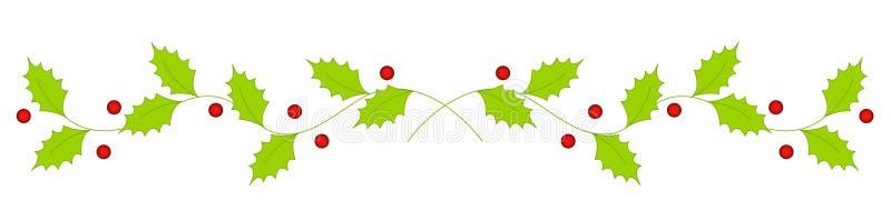 Weihnachtsstechpalmeteiler/-rand stock abbildung