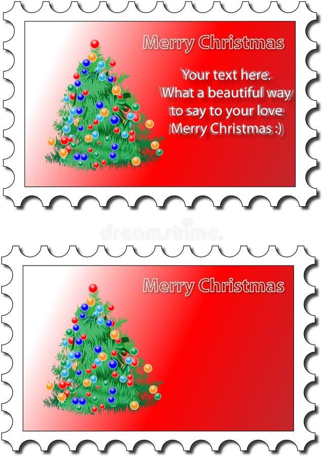Weihnachtsstempel stock abbildung