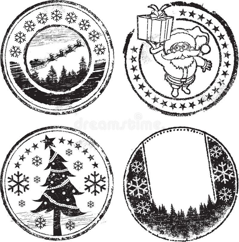 Weihnachtsstempelset lizenzfreie abbildung