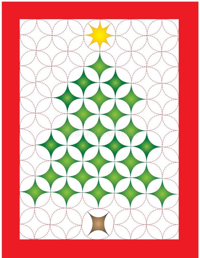 Weihnachtssteppdecke lizenzfreie abbildung