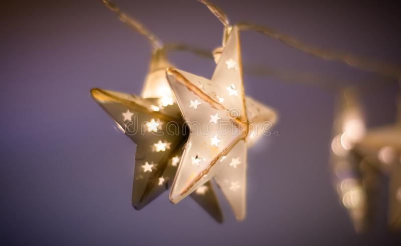 Weihnachtsstern-Licht lizenzfreie stockfotografie