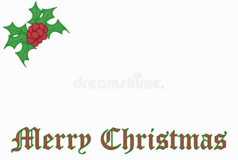 Weihnachtsstickerei lizenzfreie abbildung