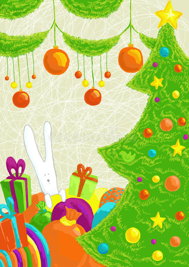 Weihnachtsstimmung lizenzfreie abbildung