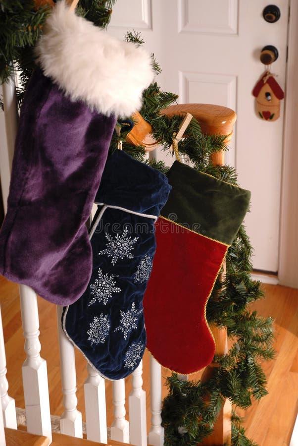 Weihnachtsstrümpfe stockfotos