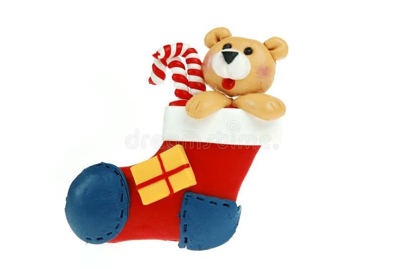 Download Weihnachtsstrumpf stockbild. Bild von strumpf, sankt, schnee - 46543