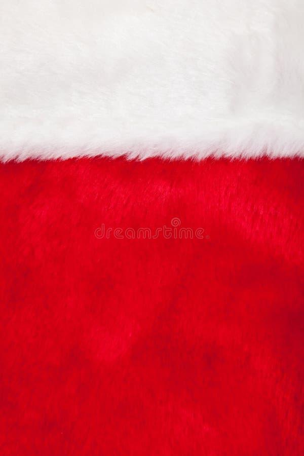 Weihnachtsstrumpf als Hintergrund stockbild