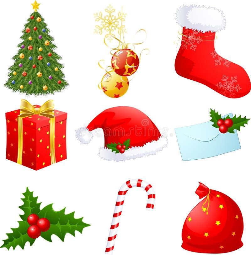 weihnachtssymbole vektor abbildung illustration von gr n 16868385. Black Bedroom Furniture Sets. Home Design Ideas