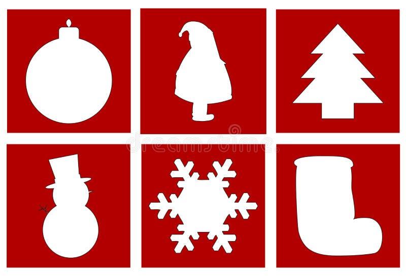 Weihnachtssymbole lizenzfreie abbildung
