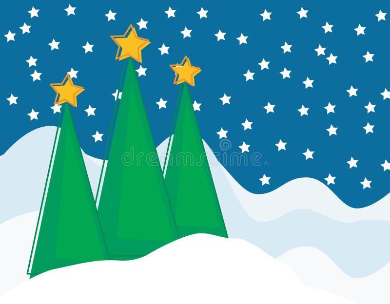 Weihnachtsszene stock abbildung