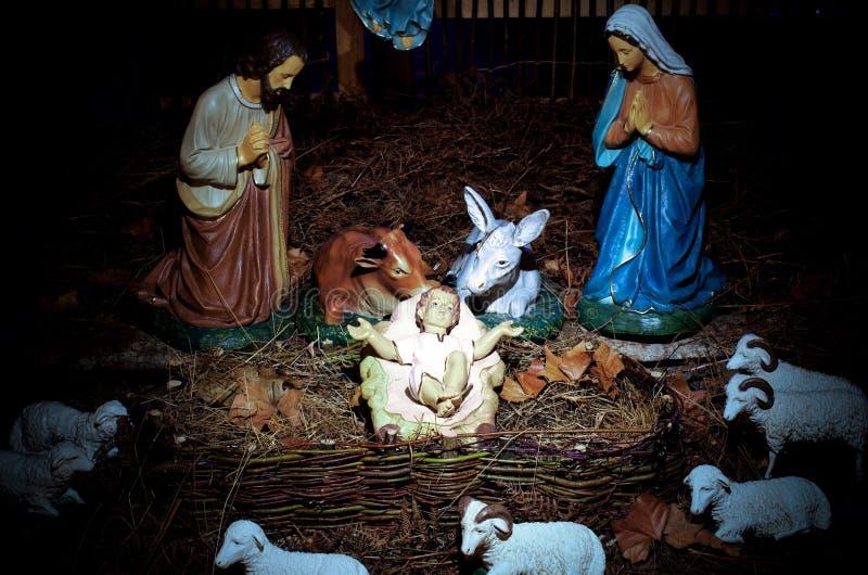 Weihnachtsszene stockbilder