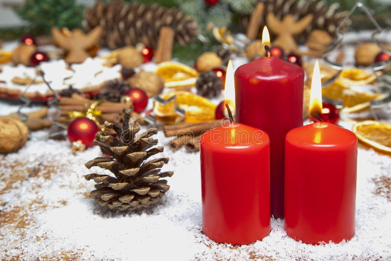 Weihnachtsszene lizenzfreie stockfotos