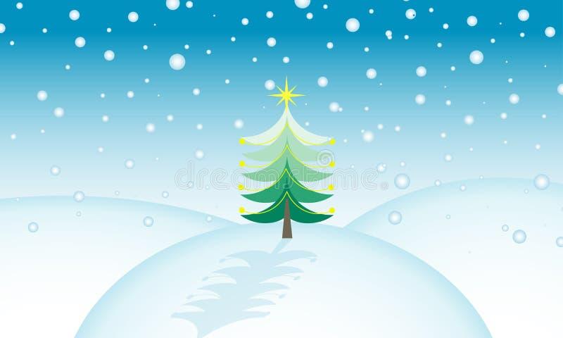 Weihnachtsszene lizenzfreie abbildung