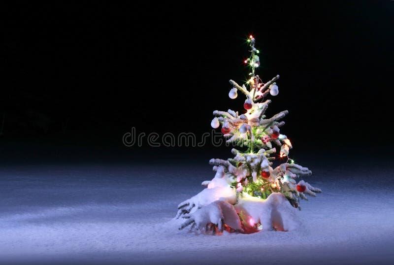 Weihnachtsszenisches Foto lizenzfreie stockfotografie