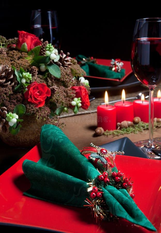 Weihnachtstabelle 5 stockbild