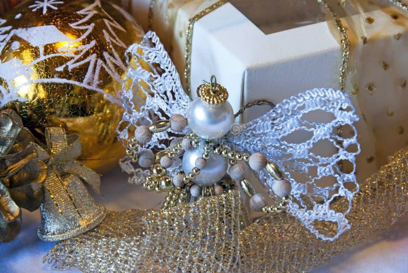 Weihnachtstabellendekoration lizenzfreies stockfoto
