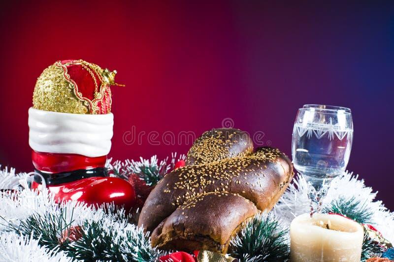Weihnachtstabelleneinstellung lizenzfreie stockbilder