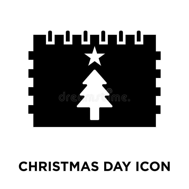 Weihnachtstagesikonenvektor lokalisiert auf weißem Hintergrund, Logobetrug stock abbildung