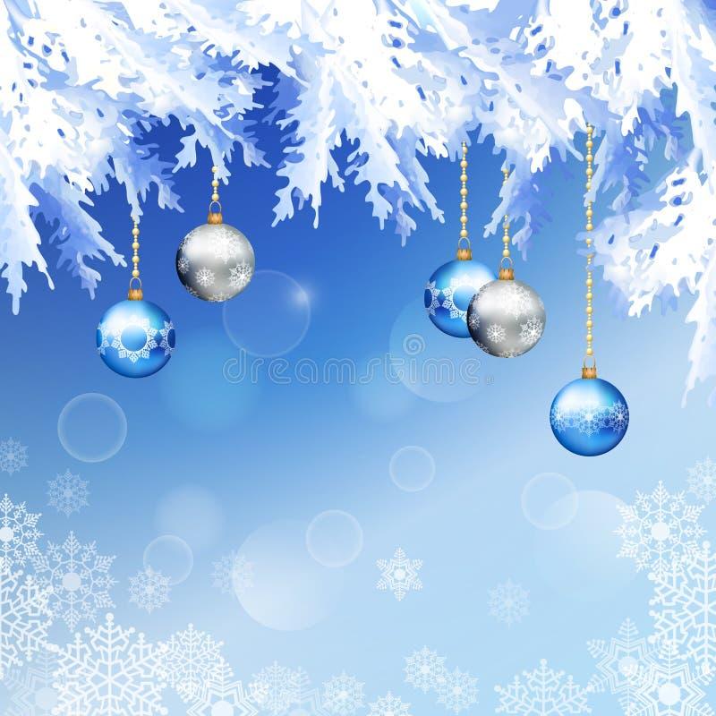 Weihnachtstannen-Baumast-Vektor-Hintergrund lizenzfreie abbildung