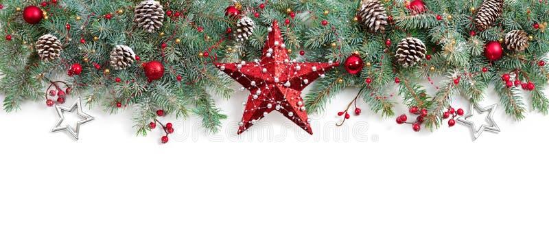 Weihnachtstannenbaum verziert lizenzfreie stockbilder