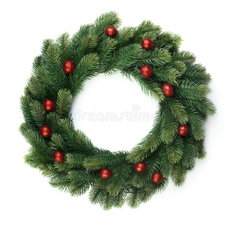 Weihnachtstannenkranz lizenzfreie stockfotografie