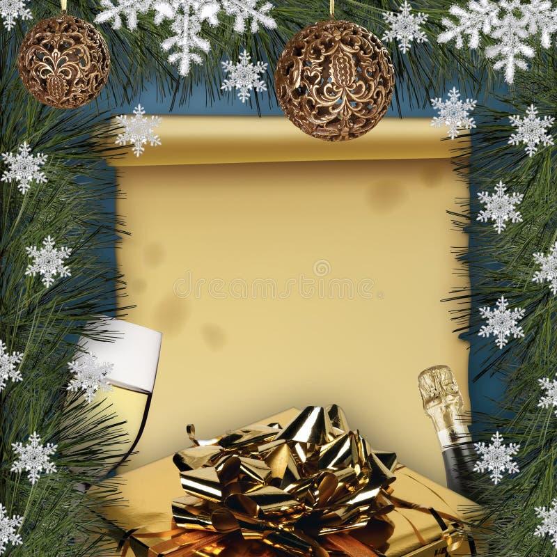 Weihnachtstapete stock abbildung