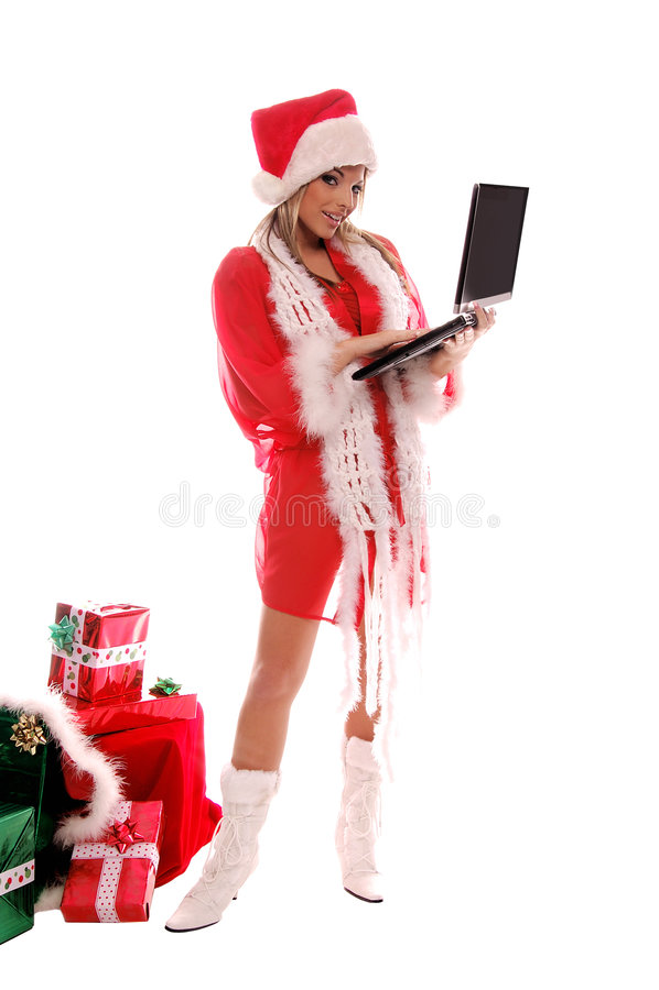 Weihnachtstechnologie stockbild