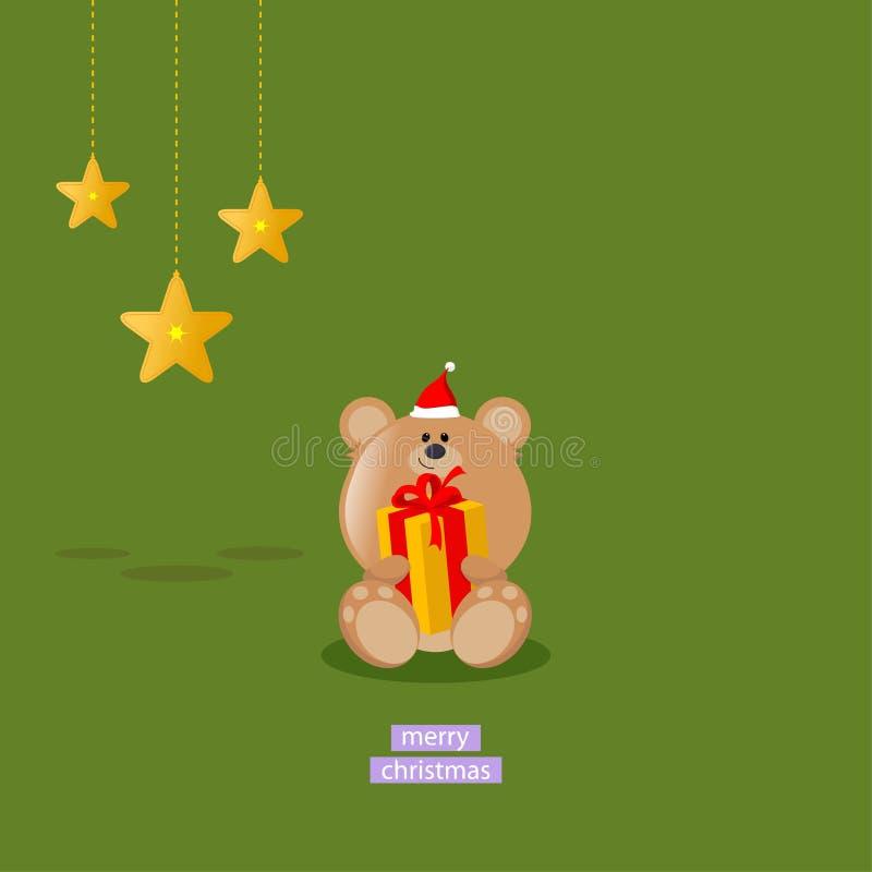 WeihnachtsTeddybär stock abbildung
