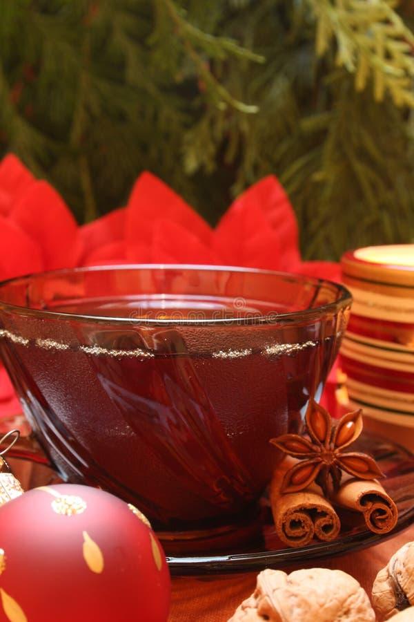 Weihnachtstee stockfoto