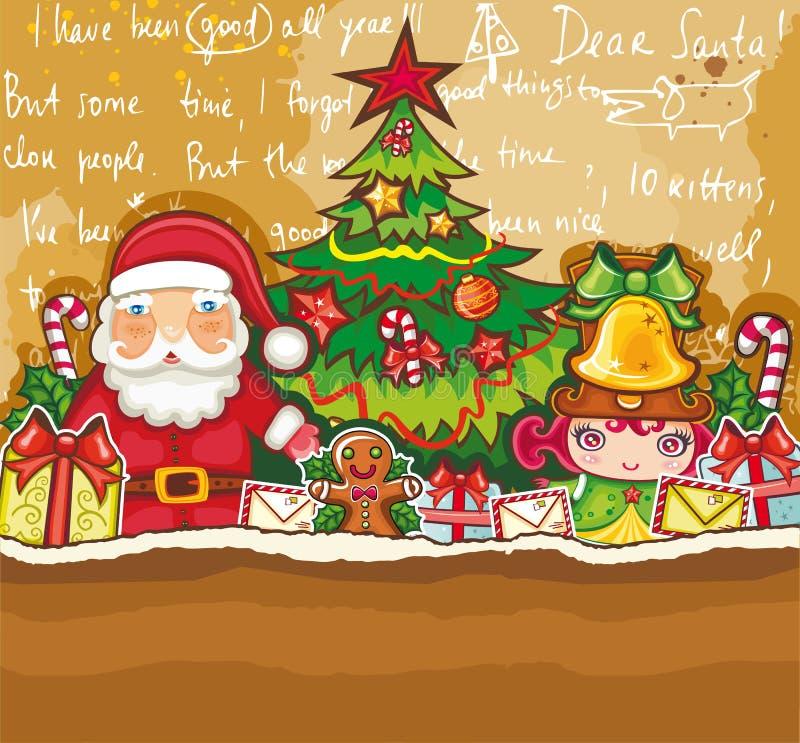 Weihnachtsthemakarte stock abbildung