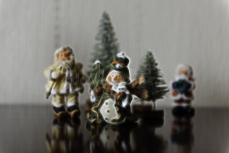 Weihnachtsthemenorientierte Gruppen-Hintergrund-Illustration lizenzfreie stockbilder