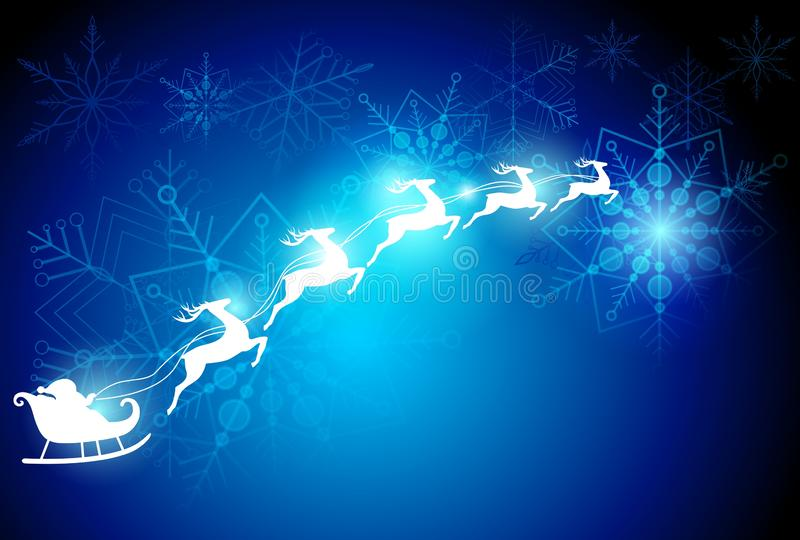 Weihnachtstraumhintergrund stock abbildung