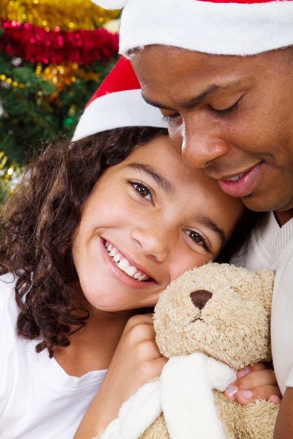 Weihnachtsvatimädchen lizenzfreie stockfotografie