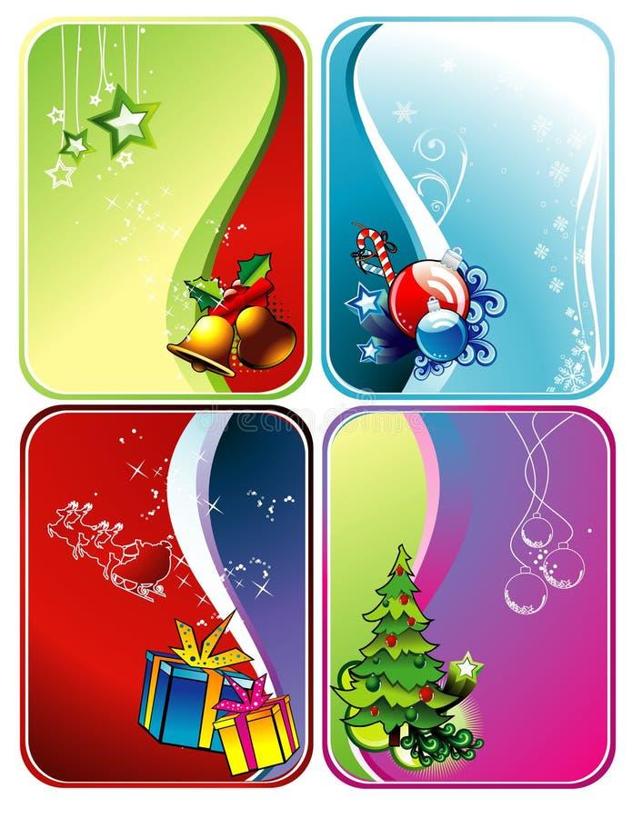 Weihnachtsvektorhintergründe stock abbildung