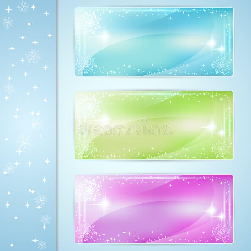 Weihnachtsvektorkarten vektor abbildung