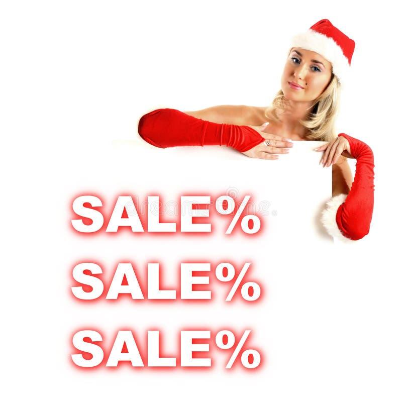 Weihnachtsverkauf stockfoto