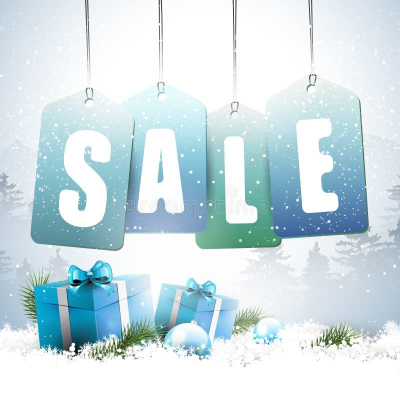 Weihnachtsverkauf - Vektorhintergrund stock abbildung