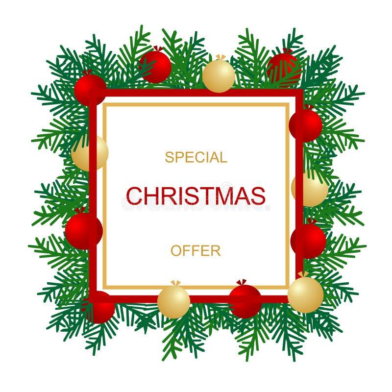 Weihnachtsverkaufs-Fahnenschablone Set 4 lizenzfreie abbildung