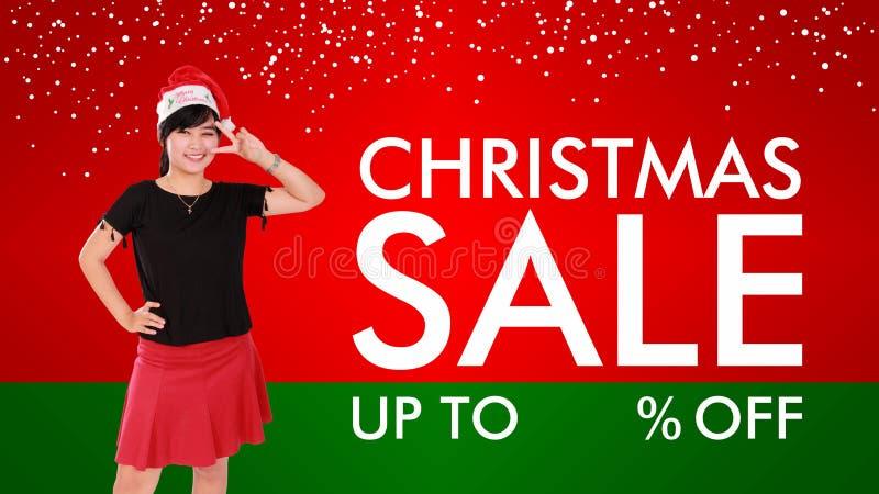 Weihnachtsverkaufs-Hintergrunddesign vektor abbildung