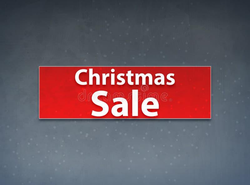 Weihnachtsverkaufs-roter Fahnen-Zusammenfassungs-Hintergrund vektor abbildung