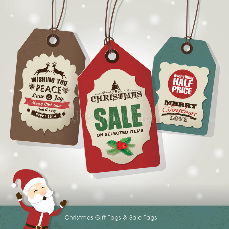 Weihnachtsverkaufs-Tags lizenzfreie abbildung