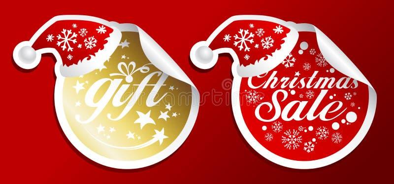 Weihnachtsverkaufsaufkleber. vektor abbildung